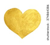 heart love gold watercolor...