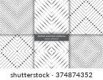 Set Of Dotted Seamless Pattern...