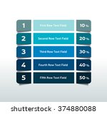 table  chart  schedule.... | Shutterstock .eps vector #374880088