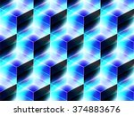 abstract geometric isometric... | Shutterstock .eps vector #374883676