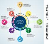 business infographics vector... | Shutterstock .eps vector #374885962