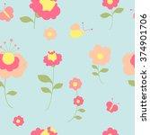 flowers design | Shutterstock .eps vector #374901706