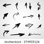 hand drawn arrows  vector set   Shutterstock .eps vector #374905126