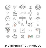 big set of minimal geometric... | Shutterstock .eps vector #374908306