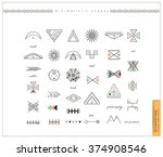 big set of minimal geometric... | Shutterstock .eps vector #374908546
