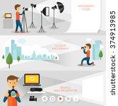 photography concept banner ... | Shutterstock .eps vector #374913985