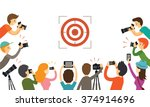 photographers aiming to target  ... | Shutterstock .eps vector #374914696