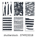 set of hand drawn cards.... | Shutterstock .eps vector #374923318