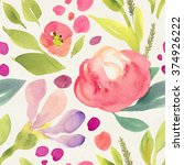 seamless hand illustrated... | Shutterstock . vector #374926222