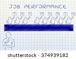 job performance  judges showing ... | Shutterstock . vector #374939182