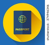 passport icon. flat design... | Shutterstock .eps vector #374946346