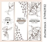 coffee banner collection.... | Shutterstock .eps vector #374963932