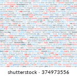 abstract program code. screen... | Shutterstock .eps vector #374973556
