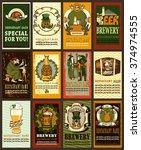 beer labels design for st.... | Shutterstock .eps vector #374974555