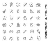 outline web icon set   pet  vet ... | Shutterstock .eps vector #374983798