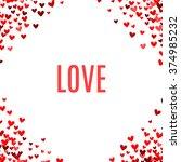 romantic red background. vector ...   Shutterstock .eps vector #374985232