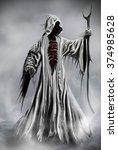 illustration of a grim reaper... | Shutterstock . vector #374985628