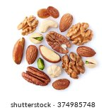 nuts mix on a white background | Shutterstock . vector #374985748