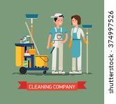 cleaning company vector concept ... | Shutterstock .eps vector #374997526