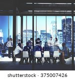 business people working working ... | Shutterstock . vector #375007426