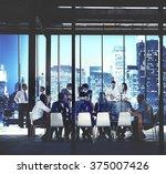 business people working working ... | Shutterstock . vector #375007426