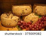 traditional italian pecorino... | Shutterstock . vector #375009382