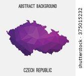 czech republic map in geometric ... | Shutterstock .eps vector #375015232
