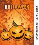 halloween laughing pumpkins | Shutterstock .eps vector #37501855