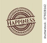 happiness grunge style stamp | Shutterstock .eps vector #375028162