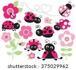 Pink Ladybug Garden