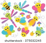 flying insects | Shutterstock .eps vector #375032245