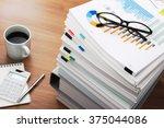 marketing data analysis. wooden ... | Shutterstock . vector #375044086