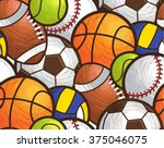 sport ball seamless pattern... | Shutterstock .eps vector #375046075