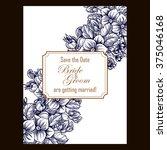 romantic invitation. wedding ... | Shutterstock .eps vector #375046168