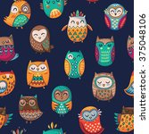 seamless pattern with tribal... | Shutterstock .eps vector #375048106