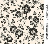 seamless pattern with flowers | Shutterstock .eps vector #375049666