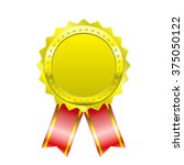 blank certificate with ribbon ... | Shutterstock .eps vector #375050122