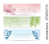 wellness spa yoga banner... | Shutterstock .eps vector #375051772
