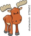 animal,art,clip-art,cute,forest,horns,illustration,mammal,moose,vector,woods