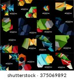 set of geometrical abstract... | Shutterstock .eps vector #375069892