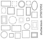 hand drawn frames set. cartoon... | Shutterstock .eps vector #375072952