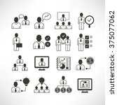 office management icons ... | Shutterstock .eps vector #375077062