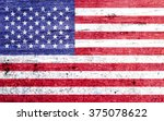 united states flag on vintage...   Shutterstock . vector #375078622