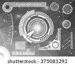 abstract future  concept vector ... | Shutterstock .eps vector #375081292