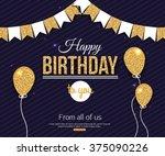 birthday card. vector... | Shutterstock .eps vector #375090226