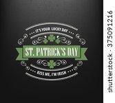 chalk typographic design for st.... | Shutterstock .eps vector #375091216