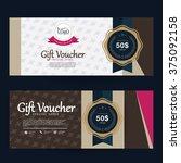 gift voucher premier gold.vector | Shutterstock .eps vector #375092158