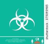biohazard symbol vector sign... | Shutterstock .eps vector #375093985