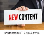 new content  message on white... | Shutterstock . vector #375115948