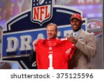 aldon smith is introduced by... | Shutterstock . vector #375125596